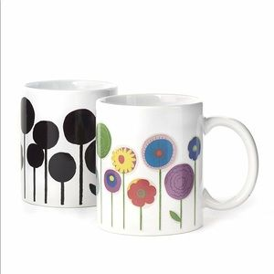 2 x flowering morph mugs